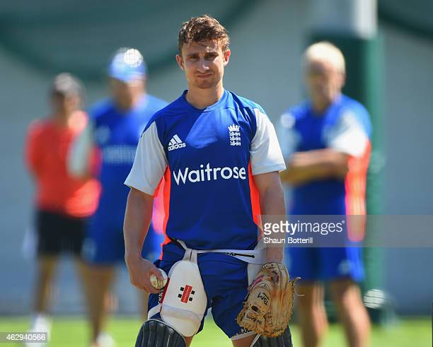 James Taylor of England looks on during an Englnad Net Session at the Sydney Cricket Ground on February 8 2015 in Sydney Australia