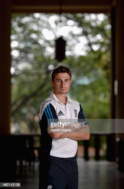 James Taylor of England poses for a portrait after a press conference at the team hotel on December 8 2014 in Kandy Sri Lanka