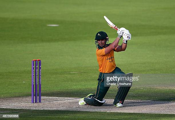 James Taylor of Nottinghamshire hits out during the Royal London OneDay Cup match between Sussex and Nottinghamshire at The BrightonandHoveJobscom...