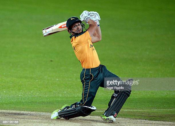 James Taylor of Nottinghamshire plays a shot during the Royal London OneDay Cup Quarter Final between Nottinghamshire and Durham at Trent Bridge on...