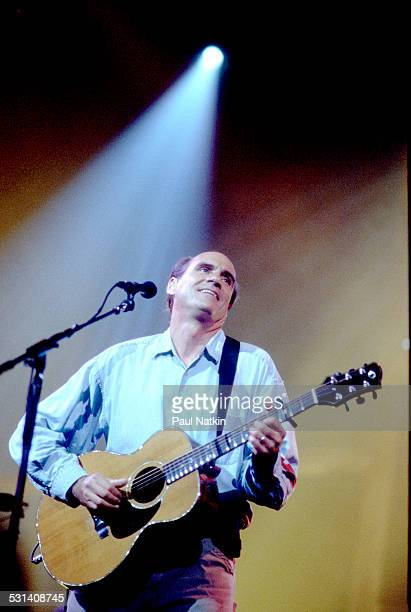 James Taylor performing Chicago Illinois August 20 2001