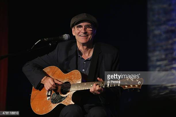 James Taylor performs a live radio broadcast on WCBSFM at City Winery on June 22 2015 in New York City