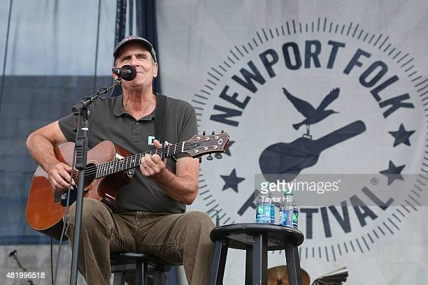James Taylor performs a surprise show during the 2015 Newport Folk Festival at Fort Adams State Park on July 25 2015 in Newport Rhode Island