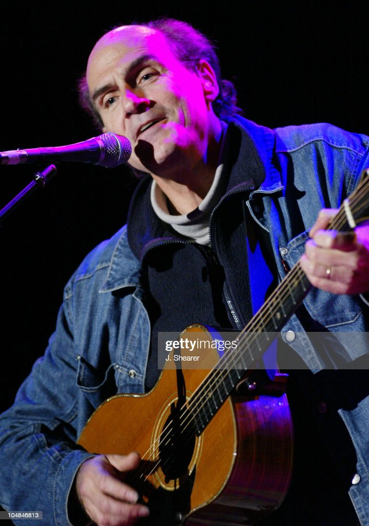 James Taylor performs at the 16th Annual Bridge School Benefit Concert.