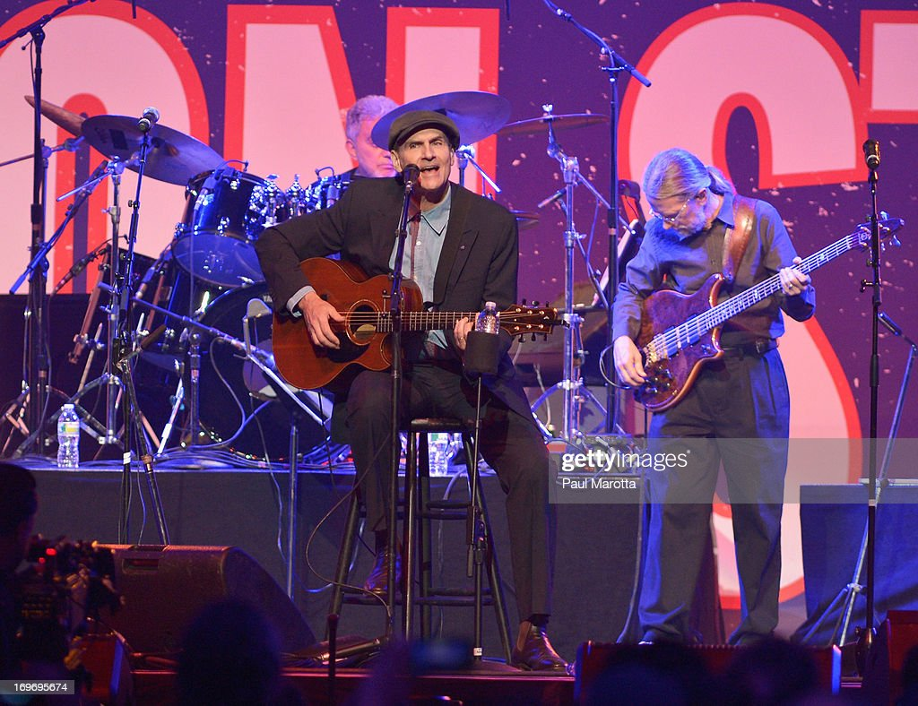 James Taylor performs during the Boston Strong: An Evening Of Support And Celebration at TD Garden on May 30, 2013 in Boston, Massachusetts.