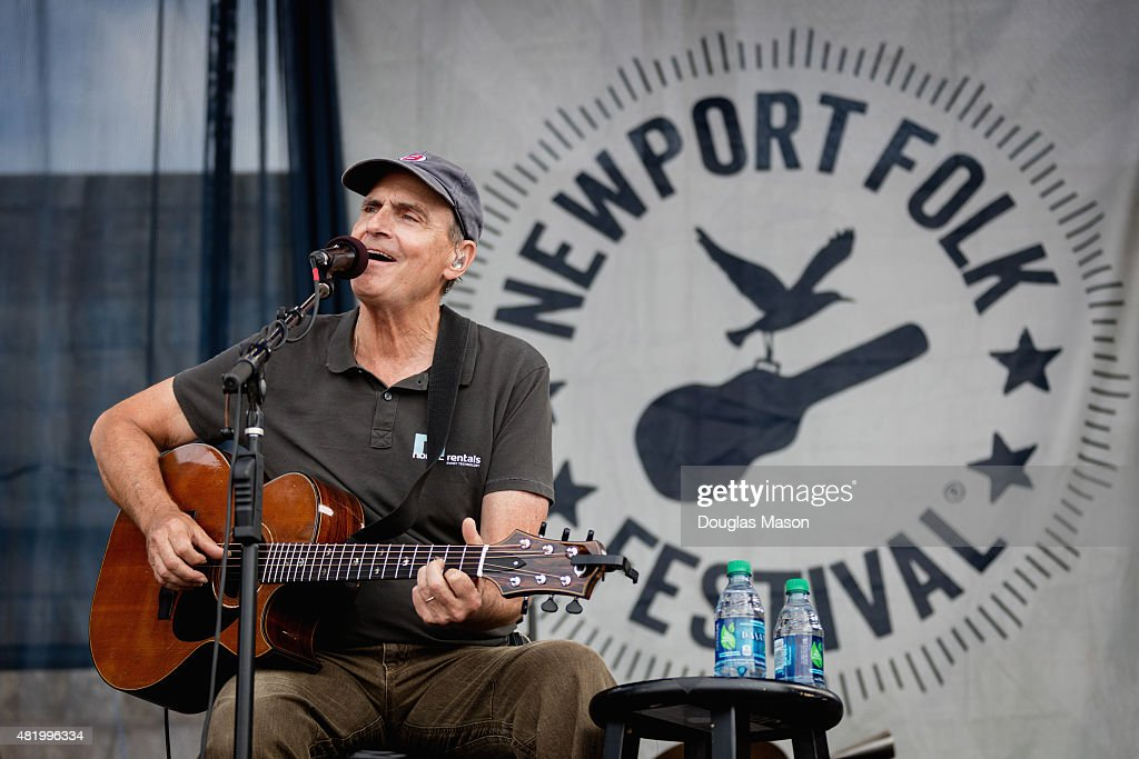 James Taylor performs during the Newport Folk Festival 2015 at Fort Adams State Park on July 25, 2015 in Newport, Rhode Island.