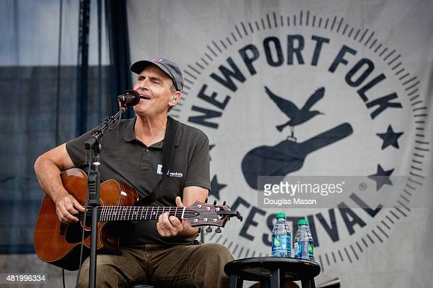 James Taylor performs during the Newport Folk Festival 2015 at Fort Adams State Park on July 25 2015 in Newport Rhode Island