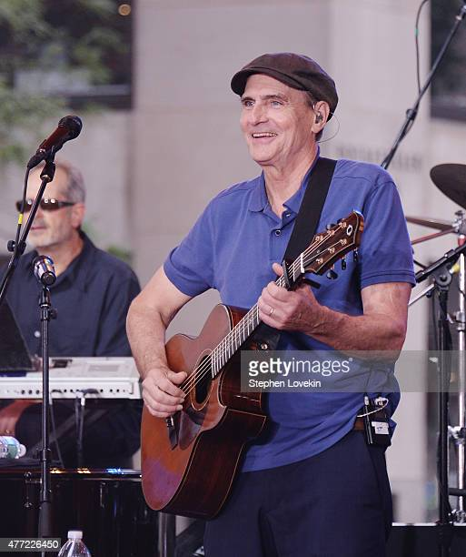 James Taylor performs on NBC's 'Today' at the NBC's TODAY Show on June 15 2015 in New York New York