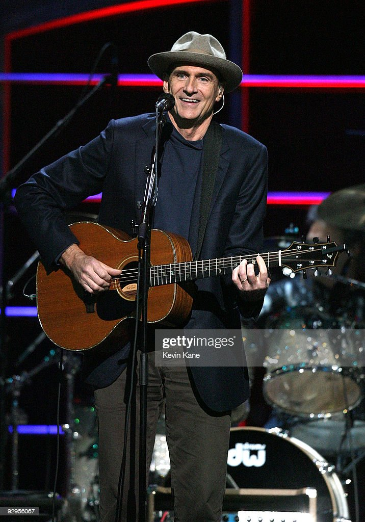 James Taylor performs onstage at the 25th Anniversary Rock & Roll Hall of Fame Concert at Madison Square Garden on October 29, 2009 in New York City.