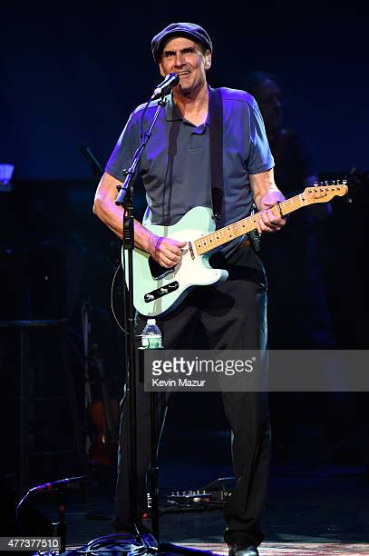 James Taylor performs onstage during SiriusXM Presents James Taylor Live at The Apollo Theater on June 16 2015 in New York City