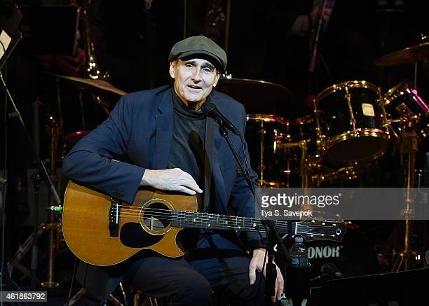 James Taylor performs onstage during The Nearness Of You Benefit Concert at Frederick P Rose Hall Jazz at Lincoln Center on January 20 2015 in New...