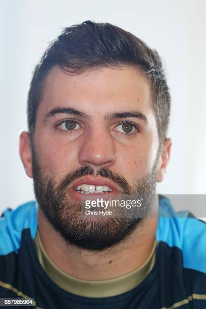 James Tedesco speaks to media before a New South Wales Blues State of Origin training session at Mantra on the Salt on May 25 2017 in Kingscliff...