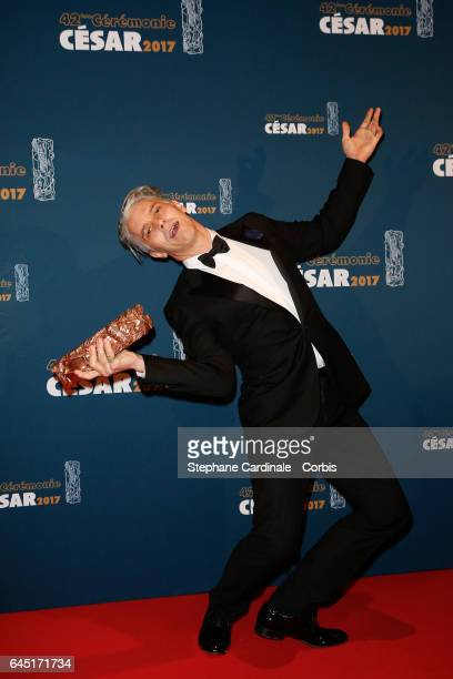 James Thierree poses with his award at the Cesar Film Awards 2017 at Salle Pleyel on February 24 2017 in Paris France
