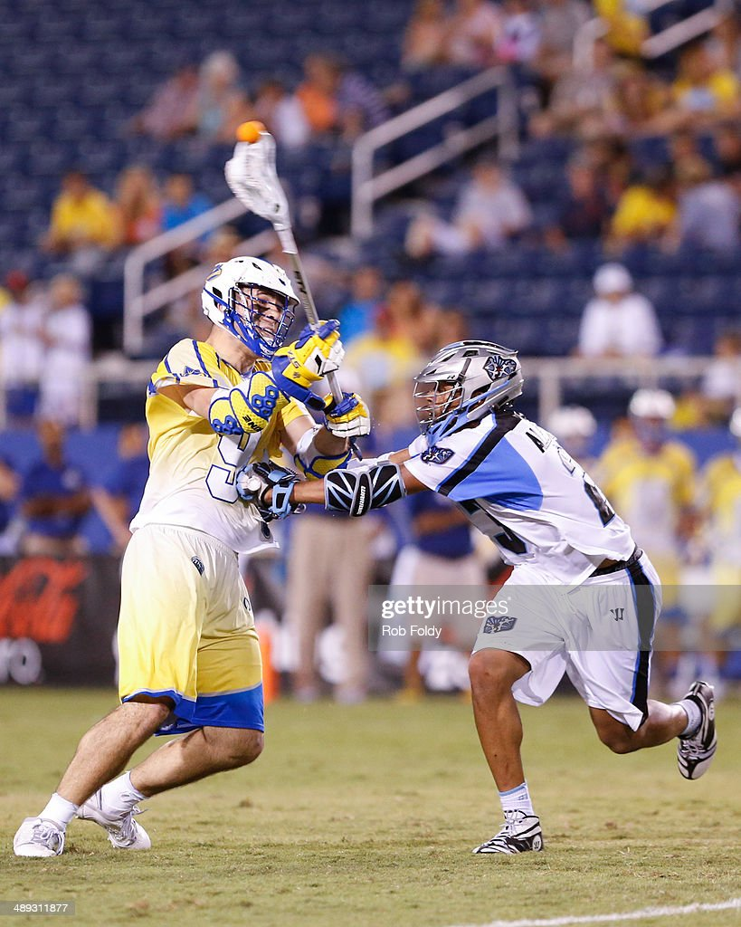 James Thul #9 of the Florida Launch is defended by Dominique Alexander #23 of the Ohio Machineduring the second half of the game at Florida Atlantic University Stadium on May 10, 2014 in Boca Raton, Florida.