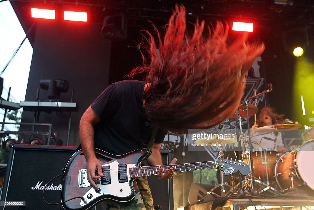 James Tidswell of Violent Soho performs at St Jerome's Laneway Festival on February 13, 2016 in Melbourne, Australia.