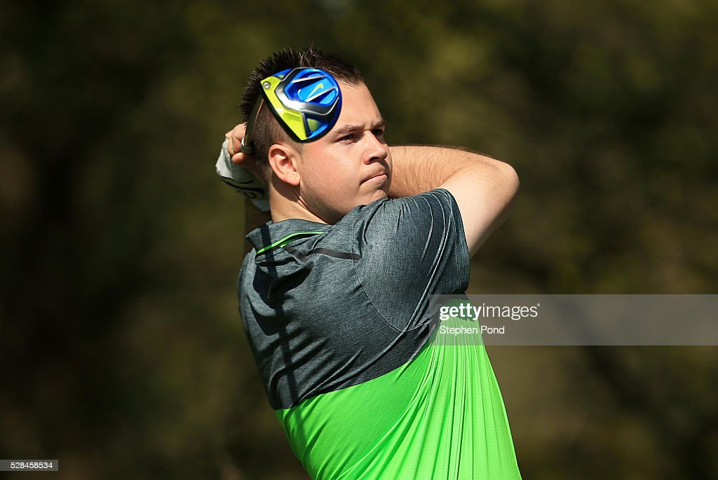 James Tinworth of Marriott Hanbury Manor Golf Club during the PGA Assistants Championship East Qualifier at Ipswich Golf Club on May 5, 2016 in Ipswich, England.