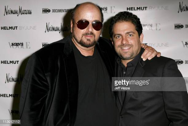 James Toback and Brett Ratner during Men's Vogue Hosts a Private Screening of 'Helmut' by June with Brett Ratner at Neiman Marcus in Beverly Hills...