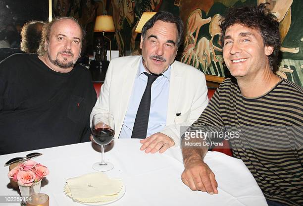 James Toback Oliver Stone and Doug Liman attend the 'South Of The Border' premiere after party at Monkey Bar on June 21 2010 in New York City