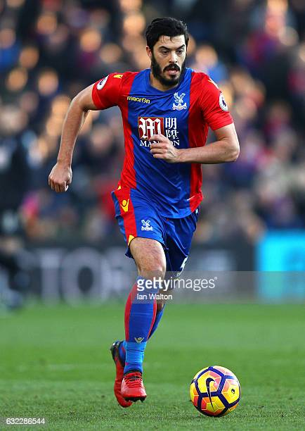 James Tomkins of Crystal Palace in action during the Premier League match between Crystal Palace and Everton at Selhurst Park on January 21 2017 in...