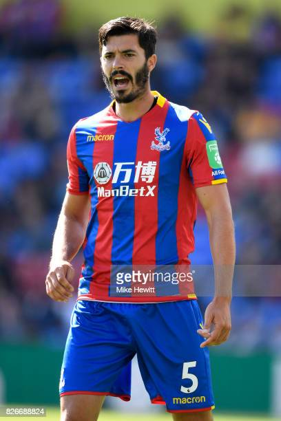 James Tomkins of Crystal Palace looks on during a Pre Season Friendly between Crystal Palace and FC Schalke 04 at Selhurst Park on August 5 2017 in...