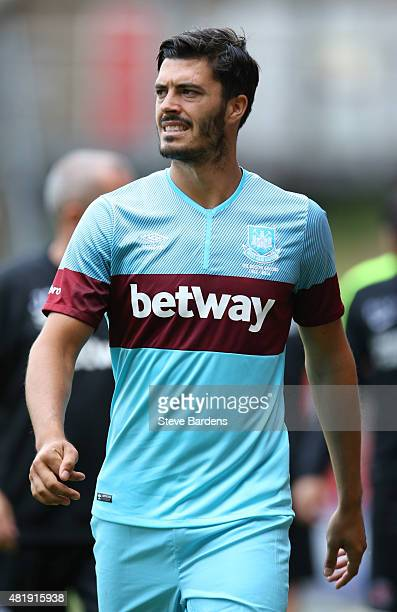 James Tomkins of West Ham United after the pre season friendly match between Charlton Athletic and West Ham United at the Valley on July 25 2015 in...
