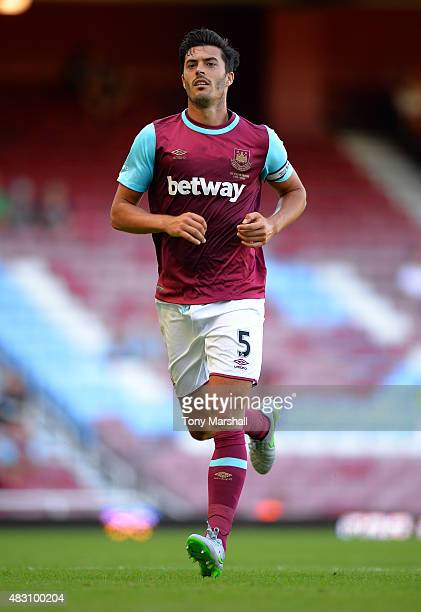 James Tomkins of West Ham United during the Betway Cup match between West Ham Utd and SV Werder Bremen at Boleyn Ground on August 2 2015 in London...