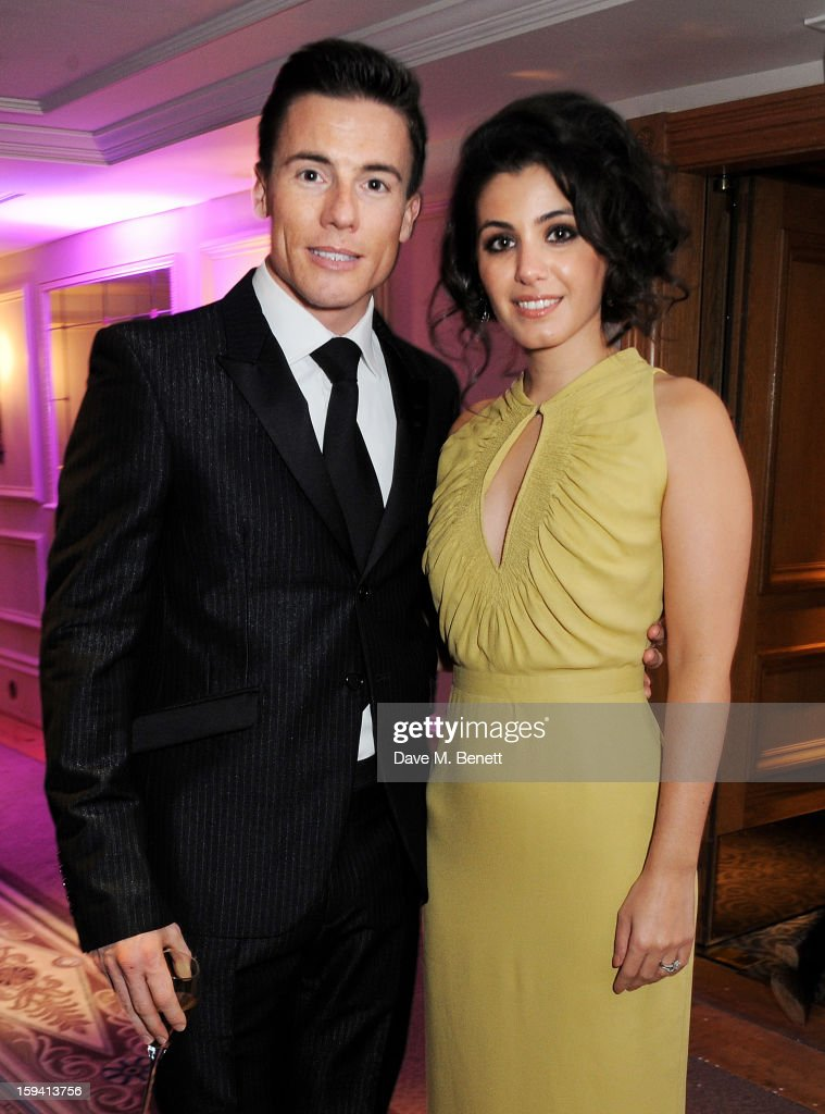 James Toseland (L) and Katie Melua attend a gala evening celebrating Old Russian New Year's Eve in aid of the Gift Of Life Foundation at The Savoy Hotel on January 13, 2013 in London, England.