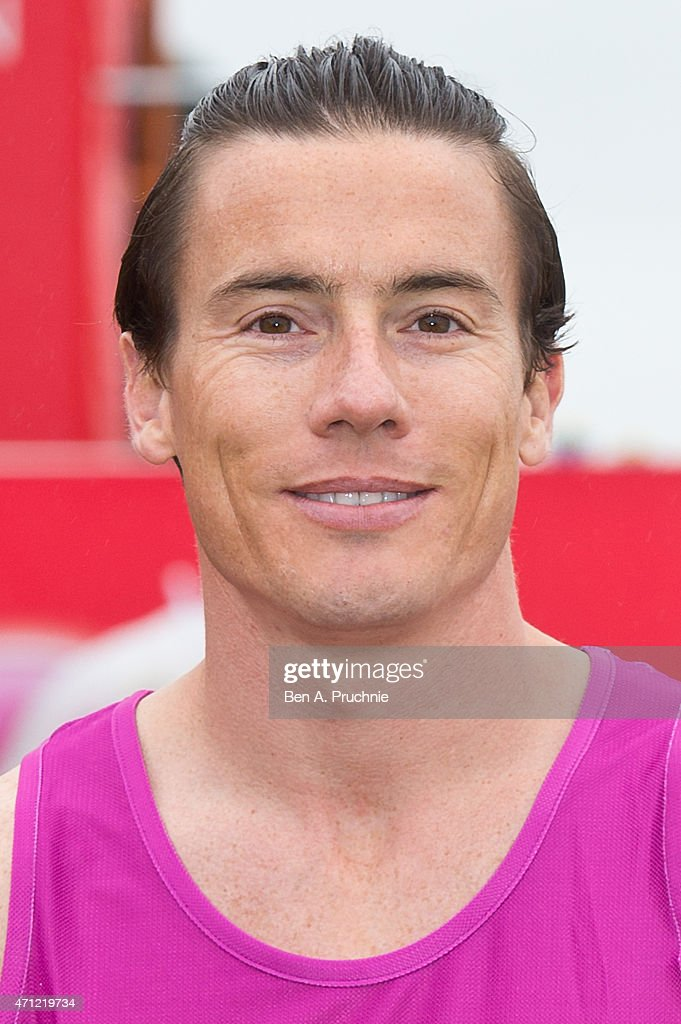James Toseland poses for photographs at the celebrity start of The London Marathon 2015 on April 26, 2015 in London, England.