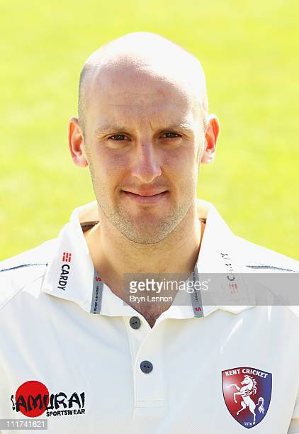 James Tredwell of Kent CCC poses for a portrait during the Kent CCC photocall held at the St Lawrence Ground on April 6 2011 in Canterbury England