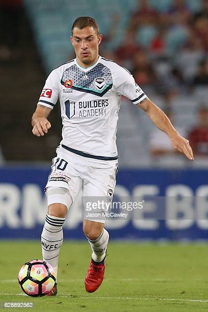 James Troisi of the Victory controls the ball during the round 10 ALeague match between the Western Sydney Wanderers and the Melbourne Victory at ANZ...