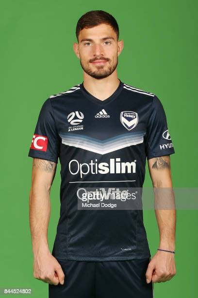 James Troisi poses during the Melbourne Victory 2017/18 ALeague headshots session at AAMI Park on September 8 2017 in Melbourne Australia
