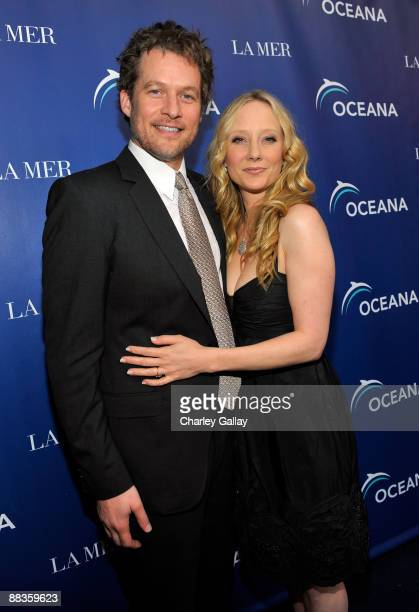 James Tupper and actress Anne Heche attend Oceana's celebration of World Oceans Day with La Mer at Private Residence on June 8 2009 in Los Angeles...