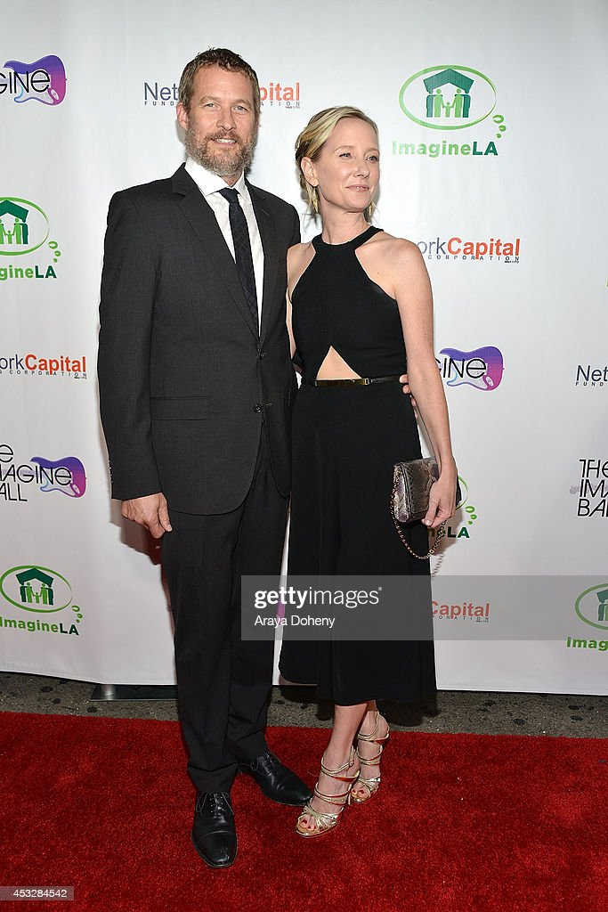 James Tupper and Anne Heche arrive at The Imagine Ball held at House of Blues Sunset Strip on August 6, 2014 in West Hollywood, California.