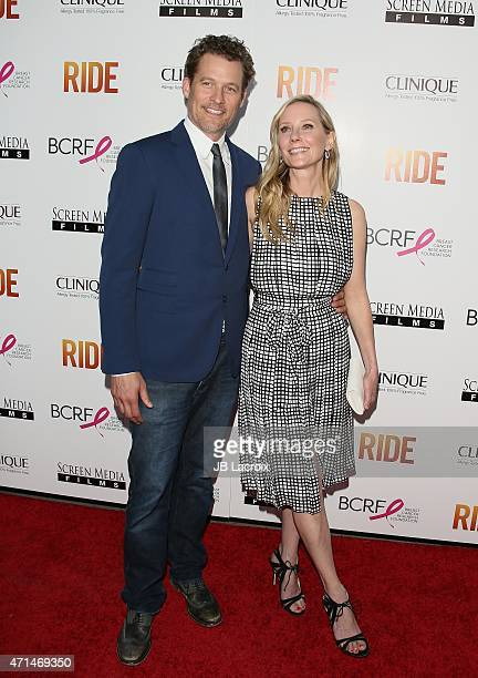 James Tupper and Anne Heche attend the 'Ride' Los Angeles premiere on April 28 2015 in Hollywood California