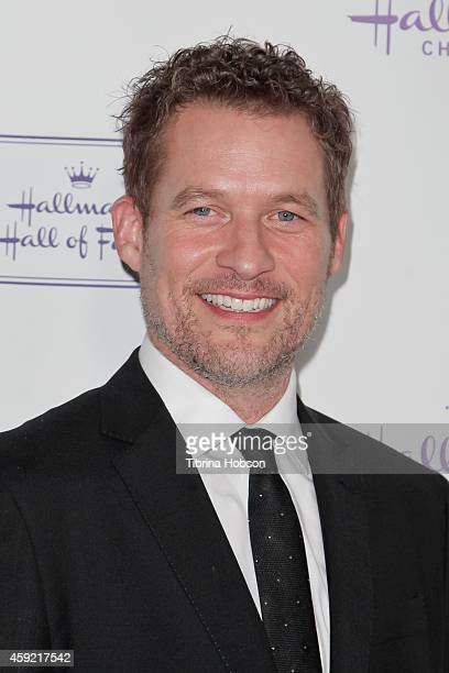James Tupper attends the Hallmark Hall of Fame 'One Christmas Eve' Los Angeles premiere at Fig Olive Melrose Place on November 18 2014 in West...
