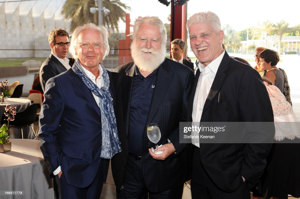 James Turrell and guests attend LACMA Celebrates Opening Of James Turrell: A Retrospective at LACMA on May 22, 2013 in Los Angeles, California.