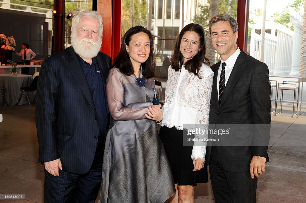 James Turrell, Kyung Turrell, Katherine Ross and Michael Govan attend LACMA Celebrates Opening Of James Turrell: A Retrospective at LACMA on May 22, 2013 in Los Angeles, California.