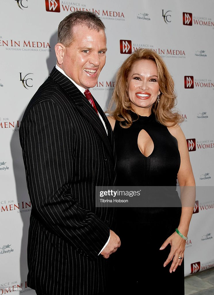 James V. Bickford IV and Lisa Christiansen attend the 56th annual Genii Awards at Skirball Cultural Center on April 23, 2013 in Los Angeles, California.