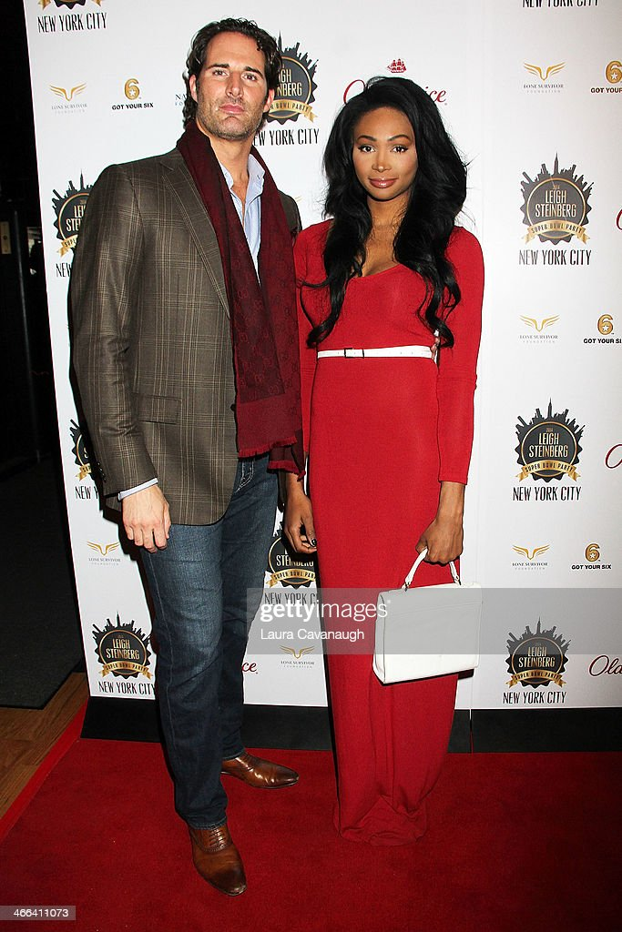 James Valenti and <a gi-track='captionPersonalityLinkClicked' href=/galleries/search?phrase=Nana+Meriwether&family=editorial&specificpeople=4594046 ng-click='$event.stopPropagation()'>Nana Meriwether</a> attend the 2014 Leigh Steinberg Super Bowl Party at 230 Fifth Avenue on February 1, 2014 in New York City.