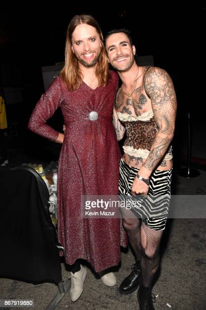 James Valentine and Adam Levine of Maroon 5 attend Casamigos Halloween Party on October 27 2017 in Los Angeles California