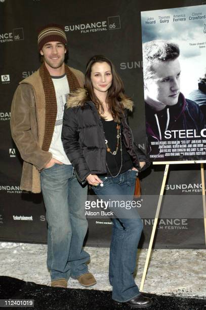 James Van Der Beek and Heather McComb during 2006 Sundance Film Festival 'Steel City' Premiere at Racquet Club in Park City Utah United States