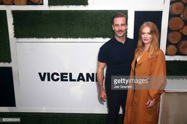 James Van Der Beek and Kimberly Van Der Beek attend VICELAND Presents What Would Diplo Do @ Comic Con 2017 on July 21 2017 in San Diego California
