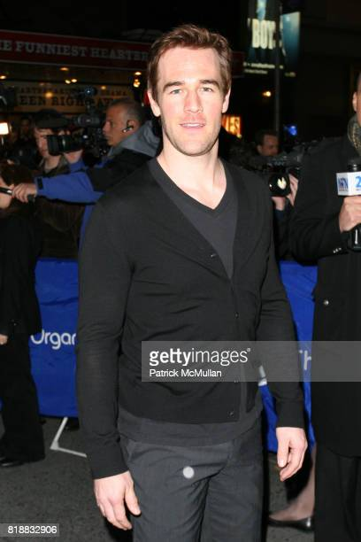James Van Der Beek attends Opening Night of 'ENRON' at The Broadhurst Theatre on April 27 2010 in New York City