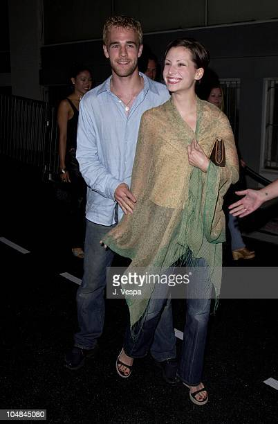James Van Der Beek Heather McComb during Vespa Fashion Party at Hollywood Blvd Cosmo Street in Hollywood California United States