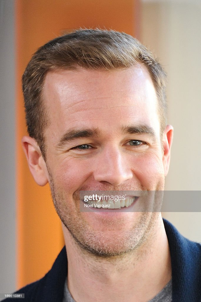 <a gi-track='captionPersonalityLinkClicked' href=/galleries/search?phrase=James+Van+Der+Beek&family=editorial&specificpeople=539017 ng-click='$event.stopPropagation()'>James Van Der Beek</a> visits Extra at The Grove on January 14, 2013 in Los Angeles, California.