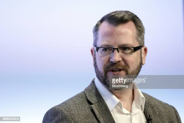 James Varga chief executive officer of The ID Co speaks during the International Fintech Conference in London UK on Wednesday April 12 2017 Bank of...