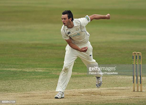 James Vince bowling for Hampshire during the LV County Championship match between Hampshire and Durham at The Rose Bowl Southampton 18th September...
