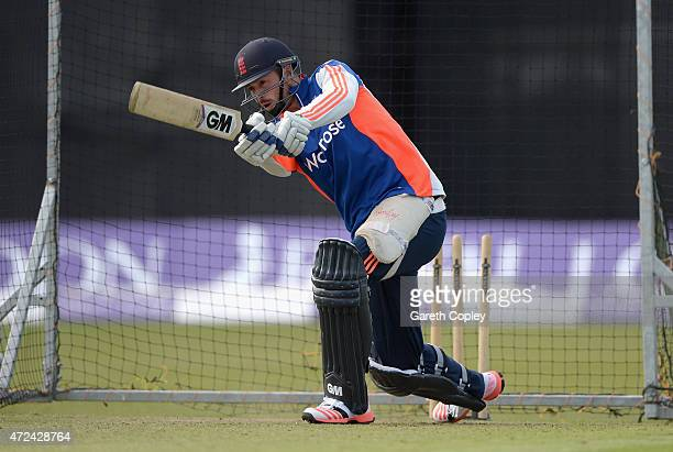 James Vince of England bats during a nets session on May 7 2015 in Malahide Ireland
