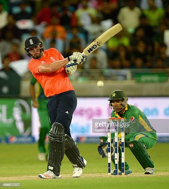 James Vince of England bats during the 1st International T20 match between Pakistan and England at Dubai Cricket Stadium on November 26 2015 in Dubai...