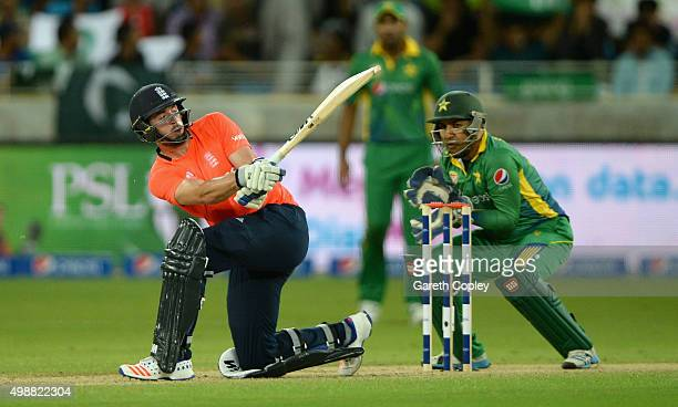 James Vince of England bats during the 1st International T20 match between Pakistan and England at Dubai Cricket Stadium on November 26 2015 in Dubai...